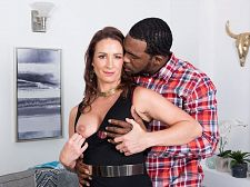 Ass-fucked by a larger than typical, dark-skinned cock