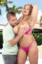 Bikini MILF Lily gets dicked down