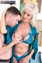 Leah can not stop screwing youthful pecker!